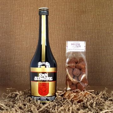 Amaro san Simone + Black Chocolate Truffle