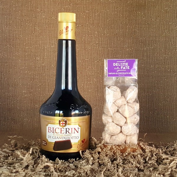 Bicerin di Giandujotto liqueur + White Chocolate Truffle