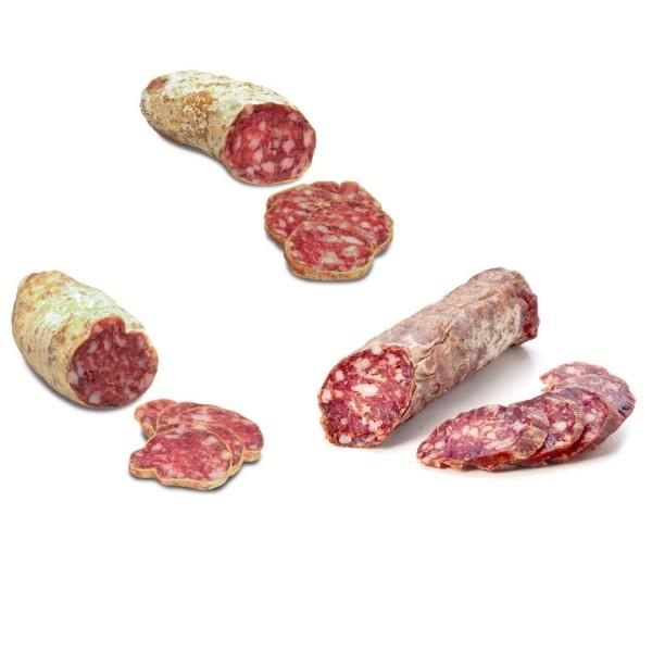 6 Salami piemontesi: Tartufo, Vino rosso, Cinghiale