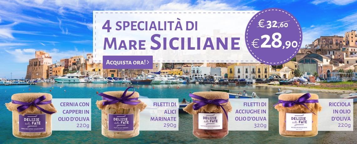 4 Specialità di mare siciliane - Delizie delle Fate