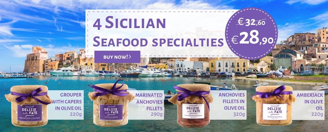 4 Sicilian seafood specialties - Delizie delle Fate